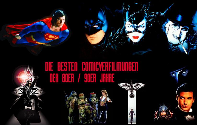 Besten Comicverfilmungen der 80er - Banner